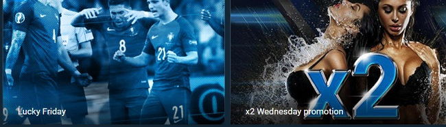 1xbet promo - Lucky friday and x2Wednesday promotion